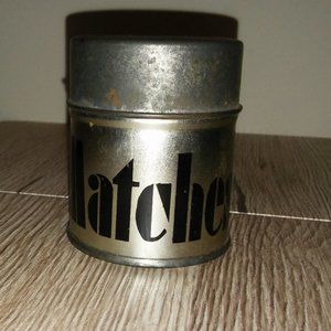 Vintage Round Metal Box with Matches